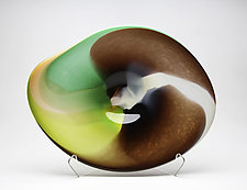 Landscape Platter, Wild Rye by Janet Nicholson and Rick Nicholson (Art Glass Vessel)