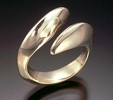 BiPass Open Ring by Lisa Slovis (Silver Ring)