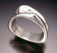 2-Band Triangle Ring by Lisa Slovis (Silver Ring)