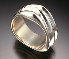 3-Band Triangle Ring by Lisa Slovis (Silver Ring)