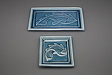 Flying Fish Plate by Lynne Meade (Ceramic Plate)