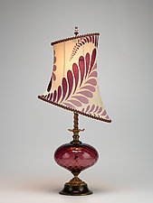 Michaela by Susan Kinzig and Caryn Kinzig (Mixed-Media Table Lamp)