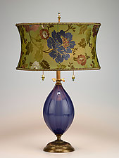 Iris by Susan Kinzig and Caryn Kinzig (Mixed-Media Table Lamp)