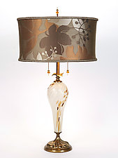 Pearl by Susan Kinzig and Caryn Kinzig (Mixed-Media Table Lamp)
