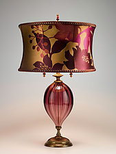 Gabriella in Purple by Susan Kinzig and Caryn Kinzig (Mixed-Media Table Lamp)