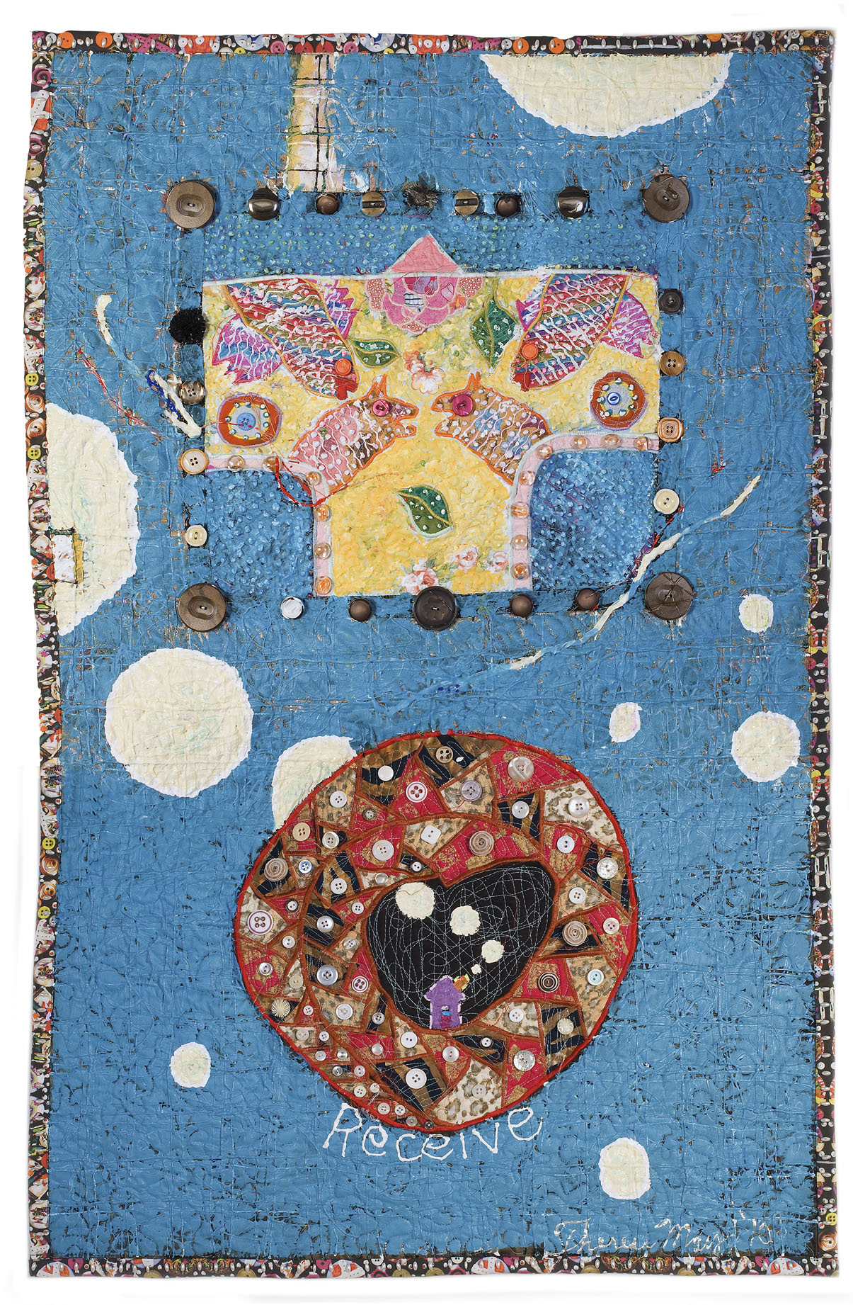 Receive by Therese May (Fiber Wall Hanging)