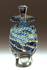 Wave Perfume Bottle by Ralph Mossman and Mary Mullaney (Art Glass Perfume Bottle)