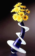 Heechee Vase by Thomas Kelly (Art Glass Vase)