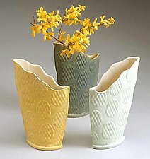 Scallop Vases by Kaete Brittin Shaw (Porcelain Vases)
