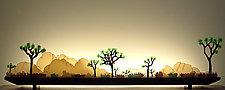 Desert Dawn by Bernie Huebner and Lucie Boucher (Art Glass Sculpture)