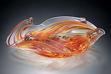 Hot Mix Square Bowl by Mark Rosenbaum (Art Glass Bowl)