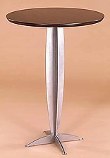 Torpedo Bar Table by Gregg Lipton (Wood & Metal Bar Table)