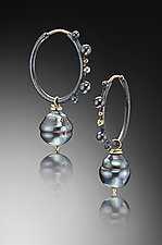 Modern Etruscan Earring by Christine MacKellar (Gold, Silver & Pearl Earrings)