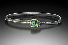 Opal Line Twig Bracelet by Christine MacKellar (Gold, Silver & Stone Bracelet)
