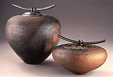 Smoke-Fired Vessels Series 2 by Carol Green (Ceramic Jars)