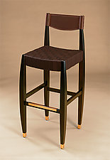 Gramercy Bar Stool by Gregg Lipton (Wood Bar Stool)