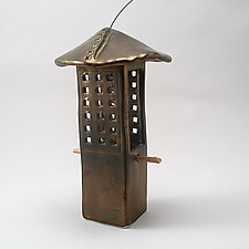 Porcelain Bird Feeder by Cheryl Wolff (Ceramic Bird Feeder)