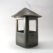 Ceramic Bird Feeder by Cheryl Wolff (Ceramic Bird Feeder)