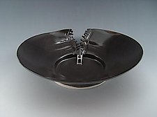 Zipper Platter in Charcoal by Lilach Lotan (Ceramic Platter)