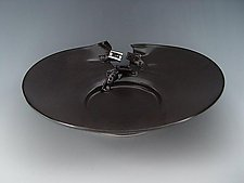 Buckle Platter in Charcoal by Lilach Lotan (Ceramic Platter)