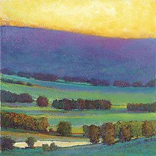 Sunset with Blue and Green by Ken Elliott (Giclee Print)