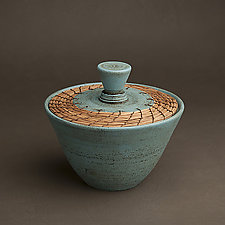 Turquoise Box by Hannie Goldgewicht (Ceramic Vessel)