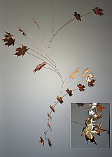 21 Leaf Copper Maple Mobile by Jay Jones (Metal Sculpture)