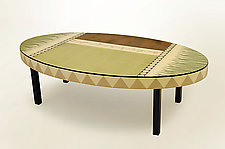 Celery Branch Coffee Table by Lara Moore (Mixed-Media Coffee Table)