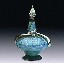 Short Adriatico Perfume Bottle by Eric Bladholm (Art Glass Perfume Bottle)