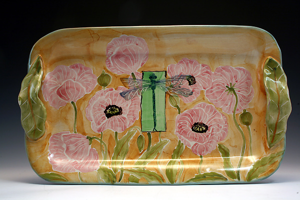 Poppy/Dragonfly Medium Tray