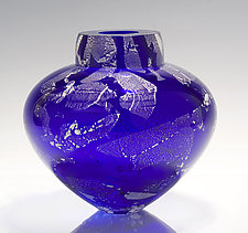 Cobalt Emperor Bowl by Randi Solin (Art Glass Vessel)