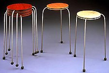 O-ped Stacking Tables by David Kiernan (Wood & Metal Occasional Tables)