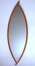 Curved Mirror by David Kiernan (Wood Mirror)