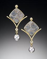 Flower Earrings by Ilene Schwartz (Gold & Stone Earrings)