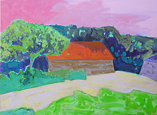 Barn at Weir Farm by Leonard Moskowitz (Acrylic Painting)