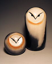 Owls by Chris  Stiles (Ceramic Sculpture)