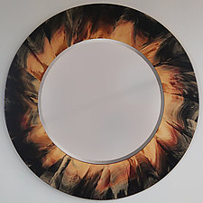 Eclipse Mirror by Ingela Noren and Daniel  Grant (Painted Wood Miror)