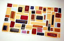 Retro Tray by Renato Foti (Art Glass Tray)