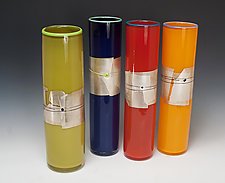 Enso Cylinder by Richard S. Jones (Art Glass Vase)