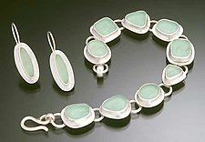 Bracelet & Earrings by Amy Faust (Silver & Glass Earrings & Bracelet)