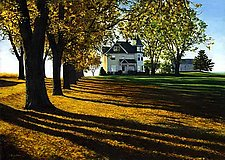Autumn Leaves - Long Shadows by Steven Kozar (Giclee Print)