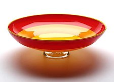 Red, Orange & Yellow Incalmo Bowl by Nicholas Kekic (Art Glass Bowl)
