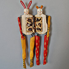 Honey and Bunny by Elizabeth Frank (Wood Wall Sculpture)