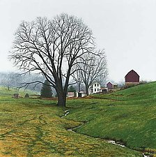 Misty Morning - Spring Farm by Steven Kozar (Giclee Print)