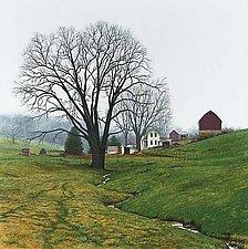 Misty Morning - Spring Farm by Steven Kozar (Giclee Print)