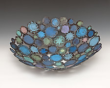 Blue Splash by Susan Madacsi (Metal Bowl)
