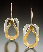 Angeline Earrings by Thea Izzi (Silver & Gold Earrings)
