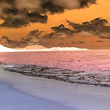 Caribbean Sea and Sky 2 by Marcie Jan Bronstein (Color Photograph)