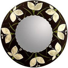 Botanica Mirror by Lara Moore (Mixed-Media Mirror)