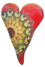 Marcele's Colors in Red by Laurie Pollpeter Eskenazi (Ceramic Wall Sculpture)